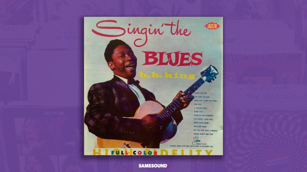 b b king singin the blues album cover