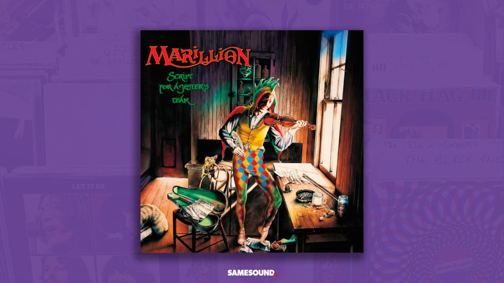 marillion script for a jesters tear cover