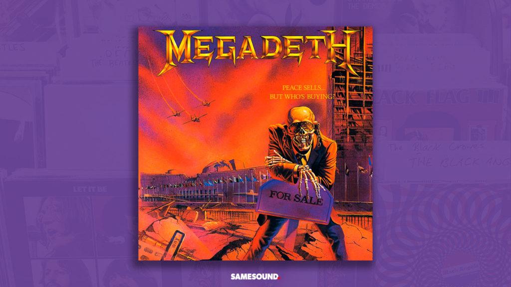 megadeth peace sells album cover