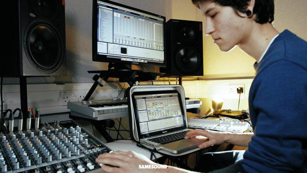 Сведение при написании музыки
