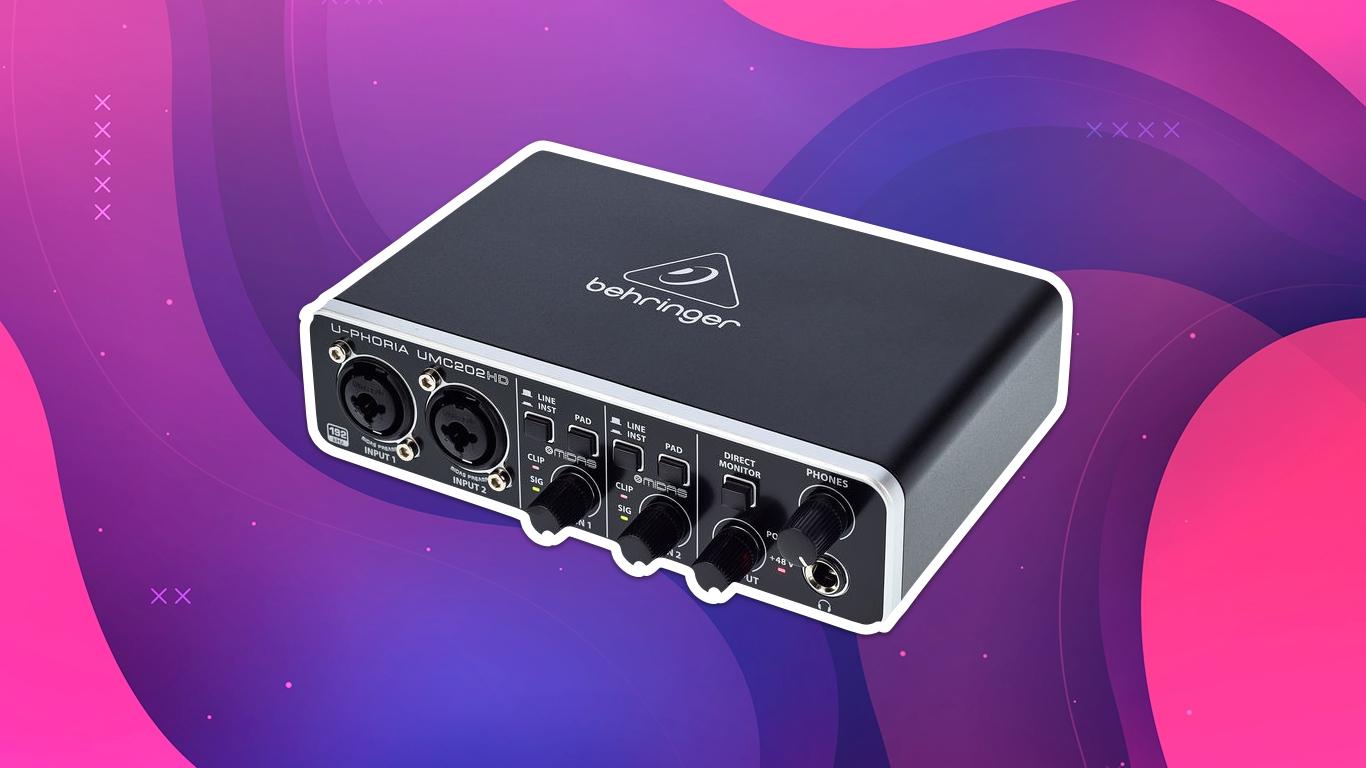 Behringer UMC202HD, лучшие аудиоинтерфейсы для студии звукозаписи