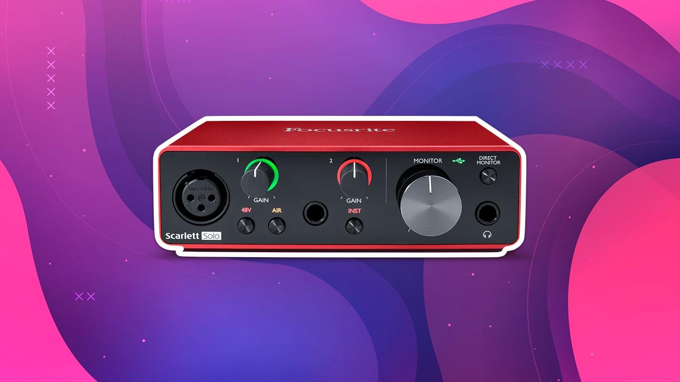 Focusrite Scarlett Solo 3rd Gen, лучшие звуковые карты для домашней студии звукозаписи