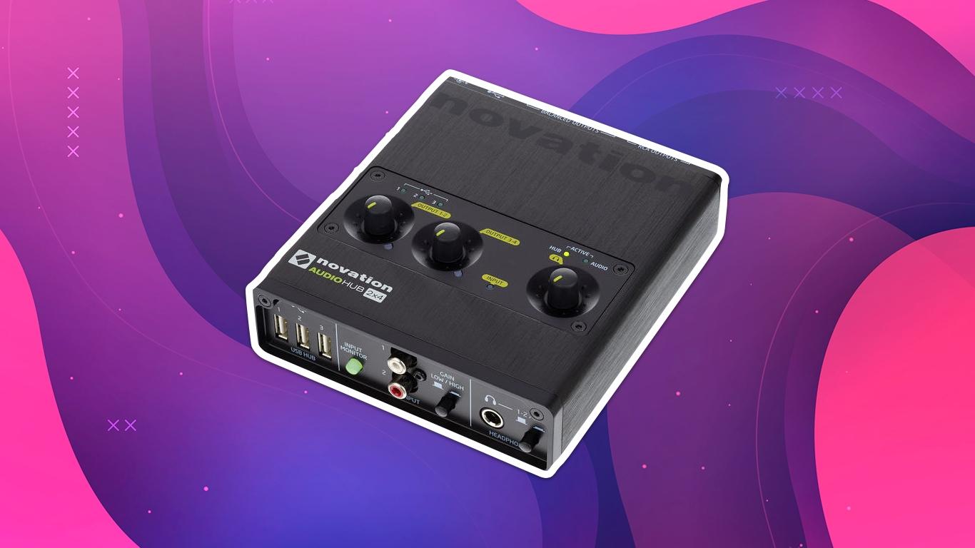 Novation AudioHub 2x4, лучшие звуковые карты для домашней студии звукозаписи