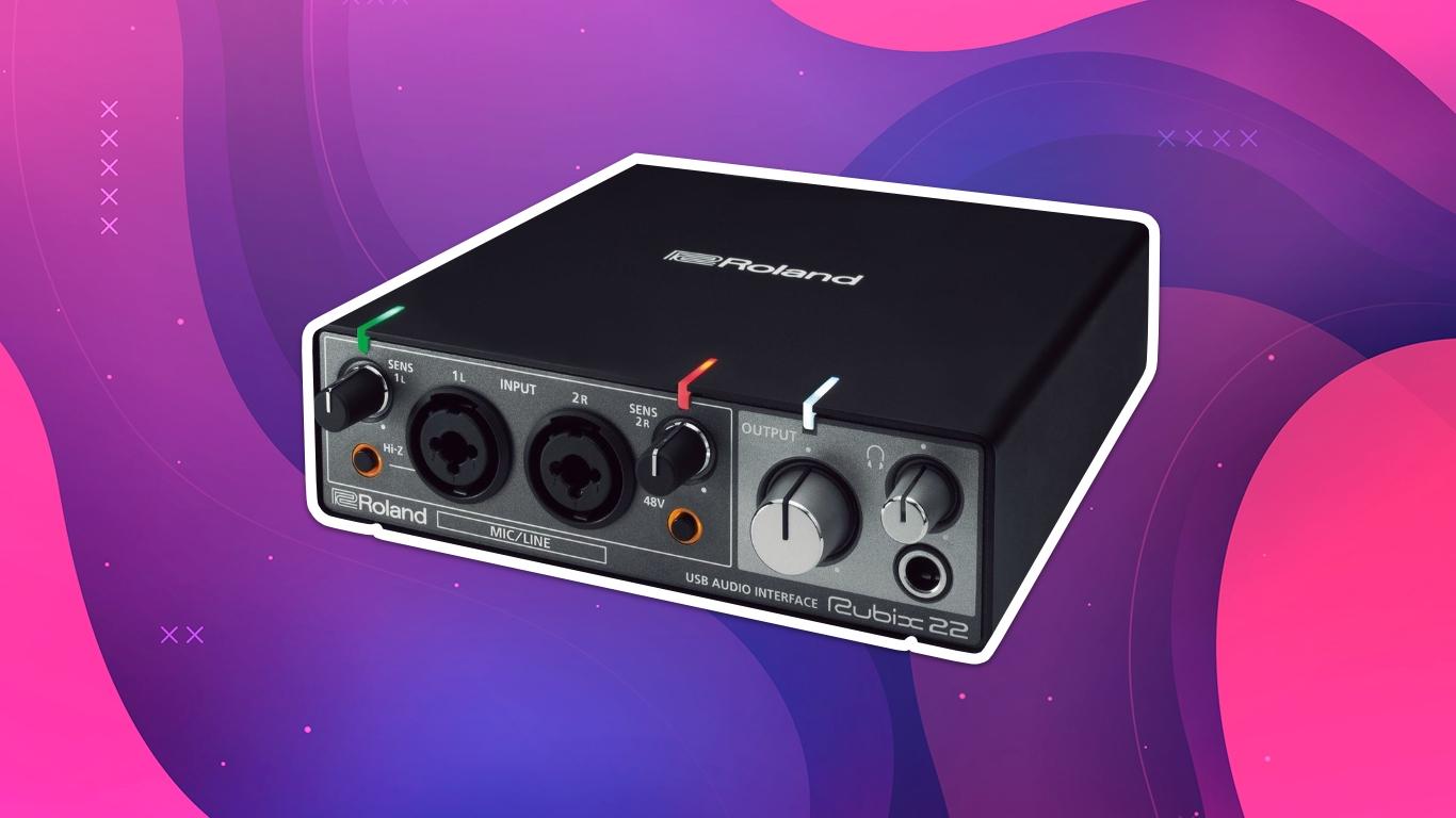 Roland RUBIX22, лучшие звуковые карты для домашней студии звукозаписи