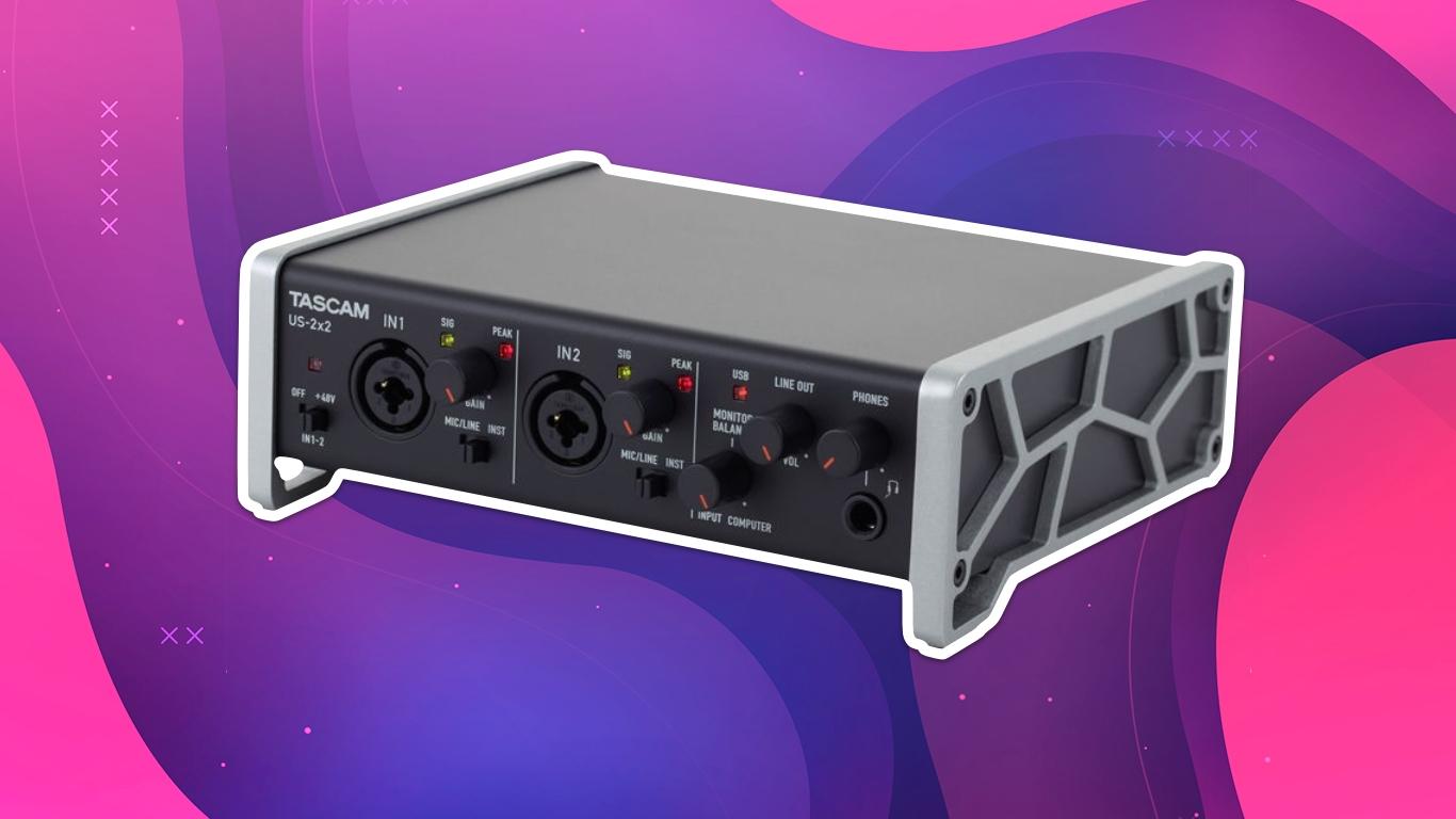 Tascam US-2x2, лучшие аудиоинтерфейсы для домашней студии звукозаписи