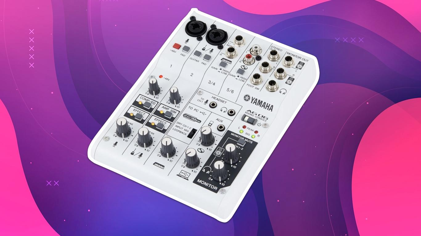 Yamaha AG06, лучшие аудиоинтерфейсы для домашней студии