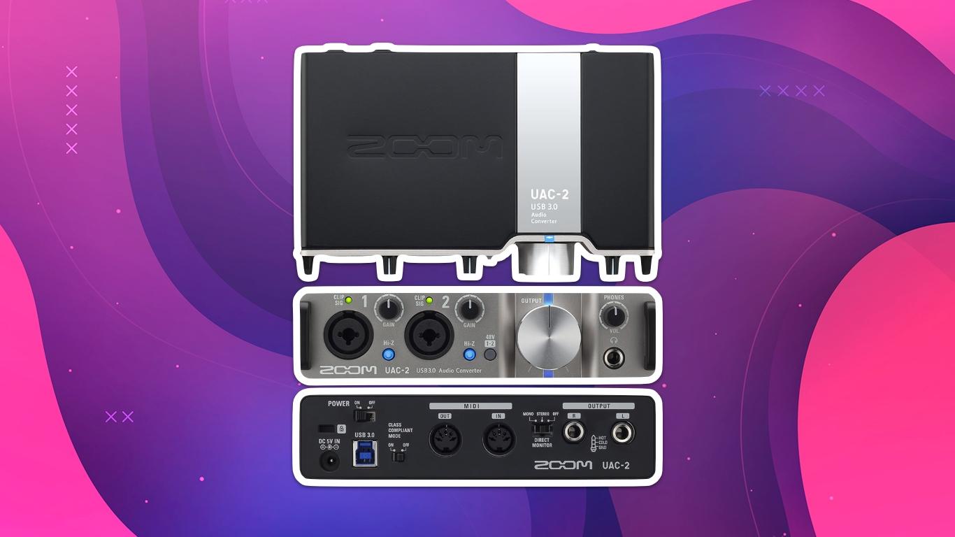Zoom UAC-2, лучшие аудиоинтерфейсы для домашней студии