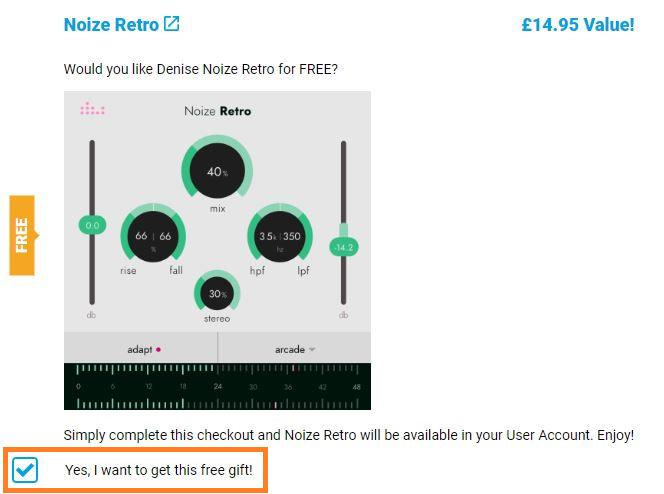 бесплатный генератор шума Denise Noize Retro