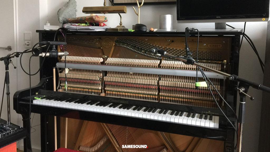 как записать пианино микрофоном