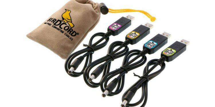 usb-кабель для педалей эффектов, songbird fx birdcord