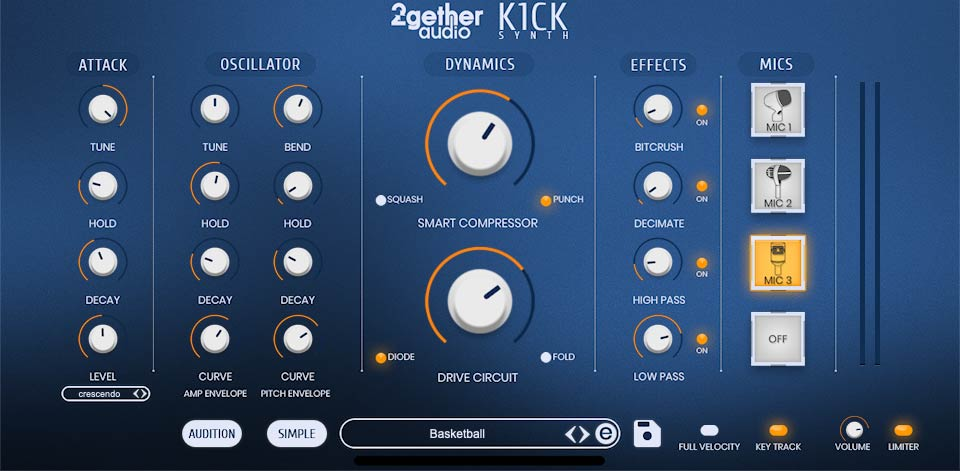 2getheraudio K1CK Synth