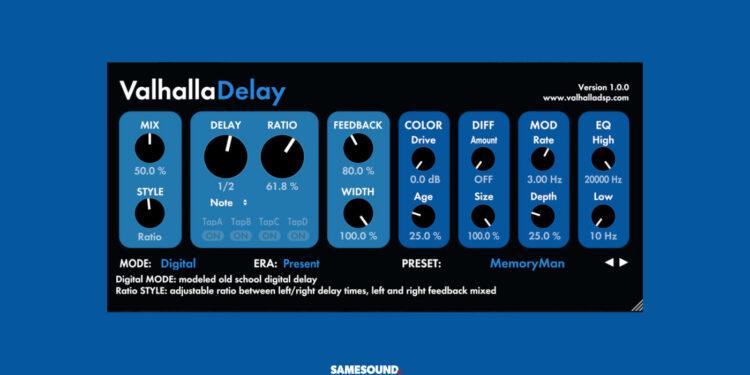ValhallaDSP ValhallaDelay Release