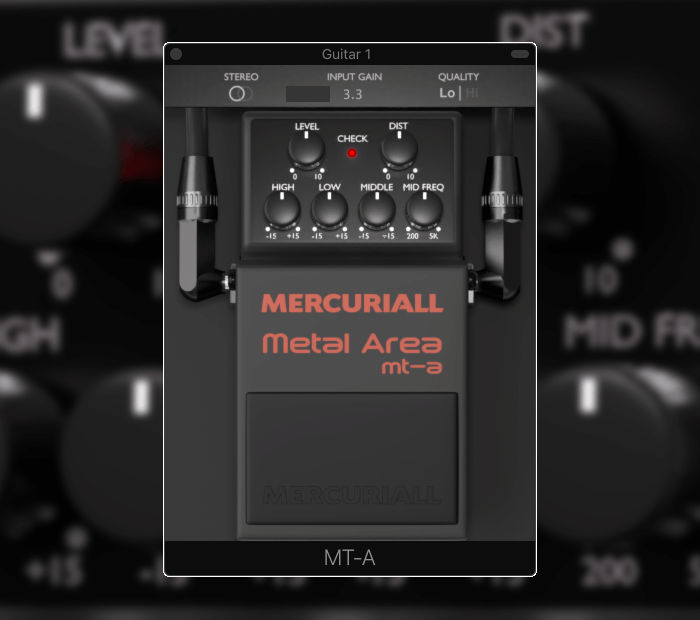 VST BOSS Metal Zone, Mercuriall Audio Metal Area MT-A