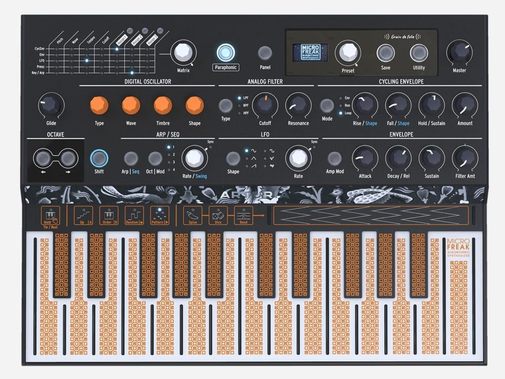 Начались продажи синтезатора Arturia MicroFreak