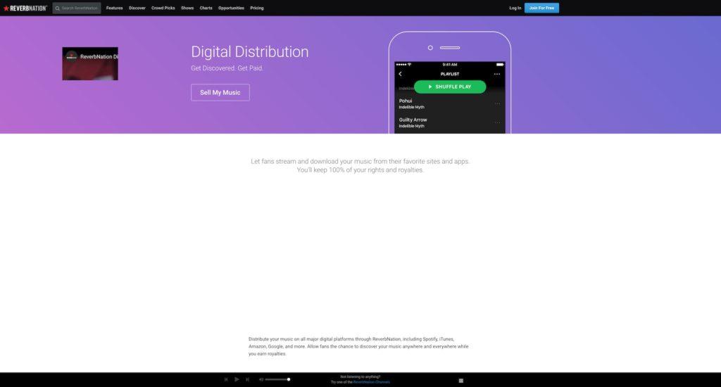 ReverbNation Distribution отзывы