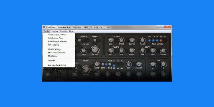 Бесплатный VST-хост Tone2 NanoHost