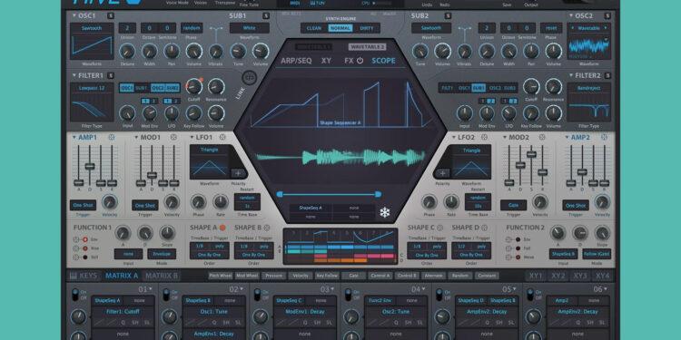 синтезатор u-he hive 2