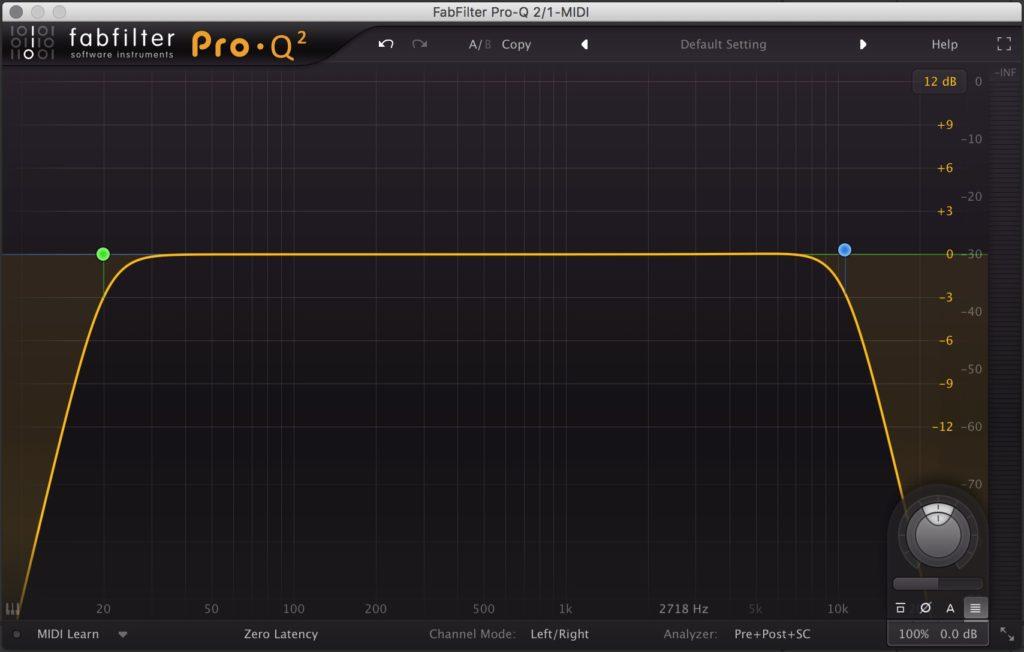 что такое high-pass фильтр, фильтр высоких частот