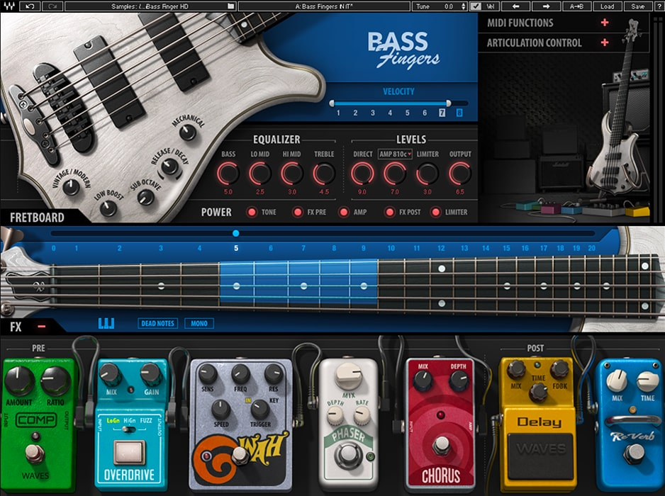 Waves Bass Fingers VST-бас
