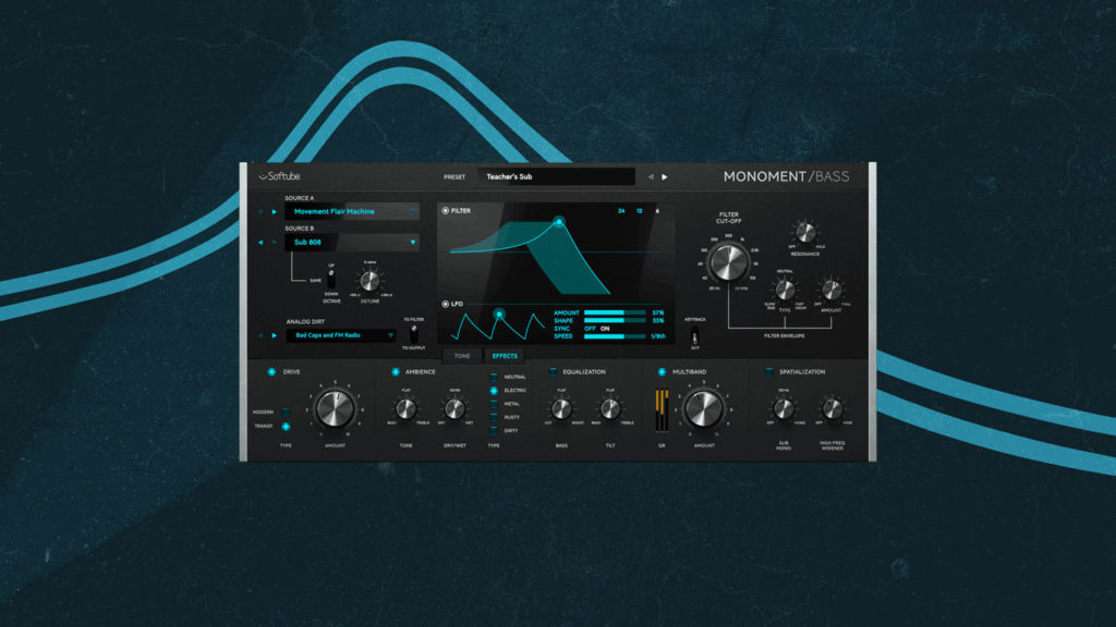 Softube Monoment Bass басовый VST-синтезатор