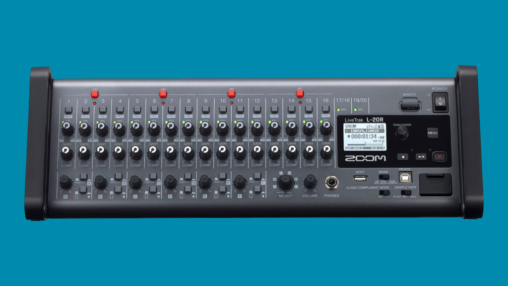 Микшер аудиоинтерфейс ZOOM LiveTrack L-20R