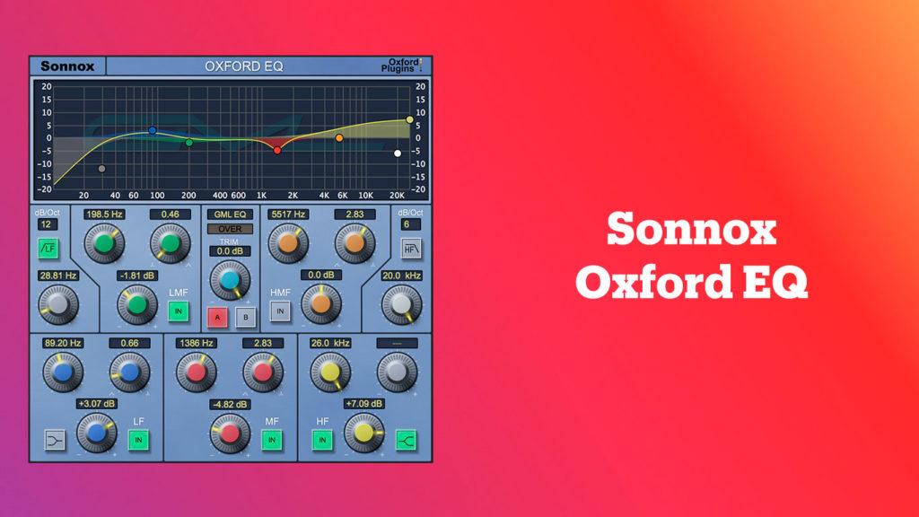 лучшие vst-эквалайзеры, Sonnox Oxford EQ