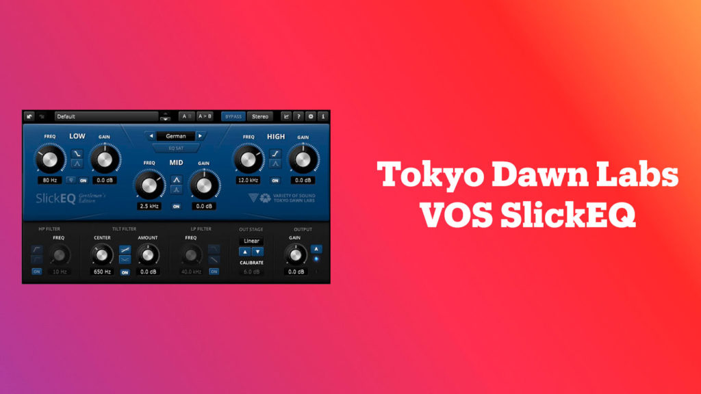лучшие vst-эквалайзеры, Tokyo Dawn Labs VOS SlickEQ