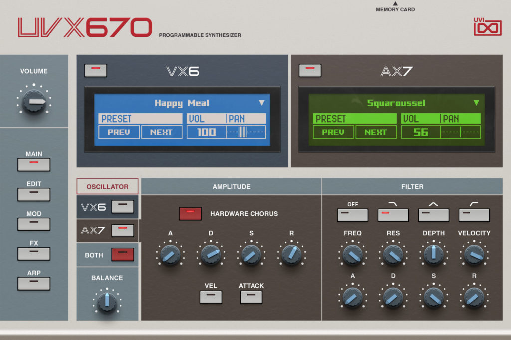 Гибридный синтезатор UVI UVX670