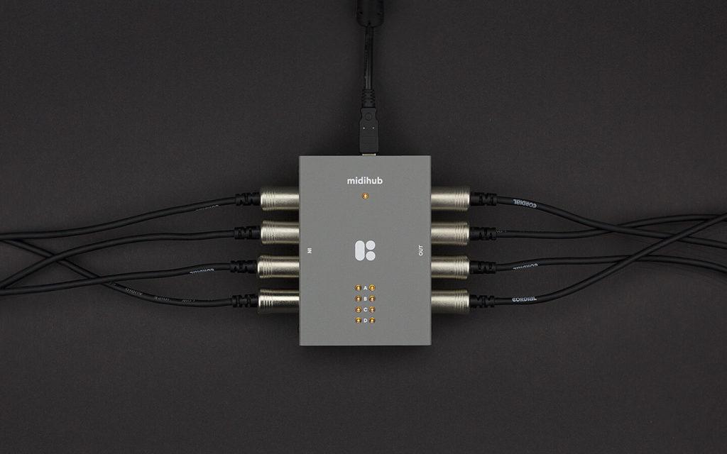 Blokas Midihub MIDI-контроллер