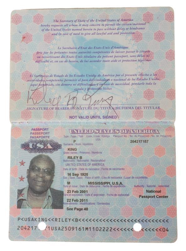 Паспорт Би Би Кинга