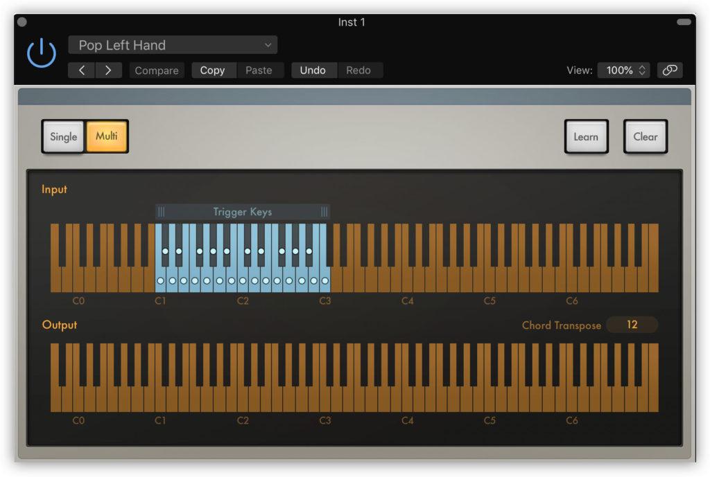 Генератор аккордов Chord Trigger в Logic Pro X