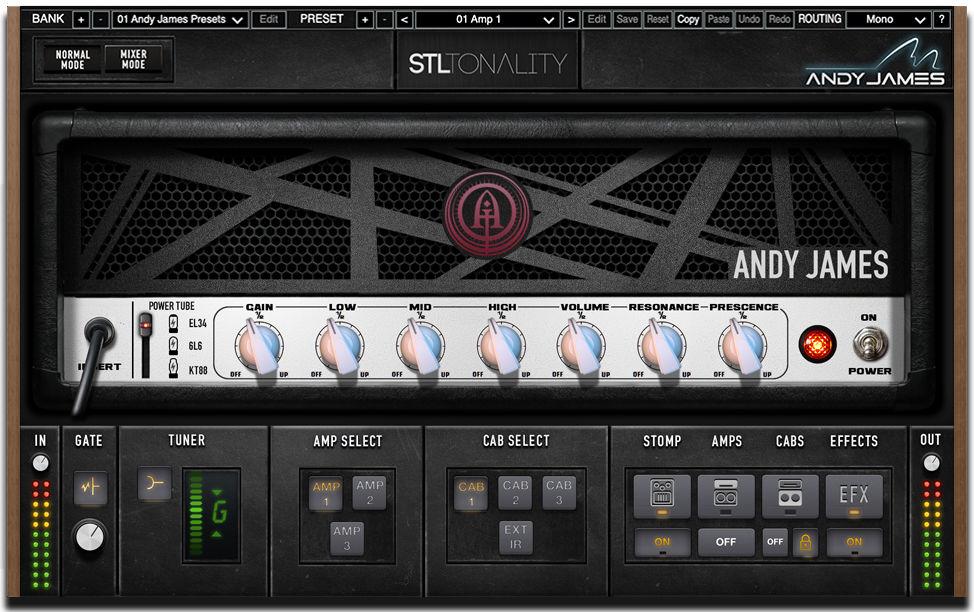 Гитарный эмулятор Энди Джеймс, STL Tones Tonality: Andy James Guitar Plug-In Suite