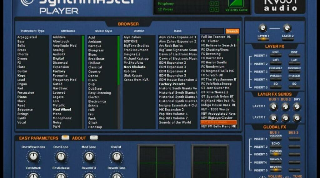 kv331 audio synthmaster player gui
