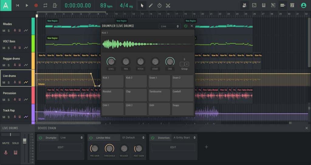 Amped Studio 2.2 русская версия