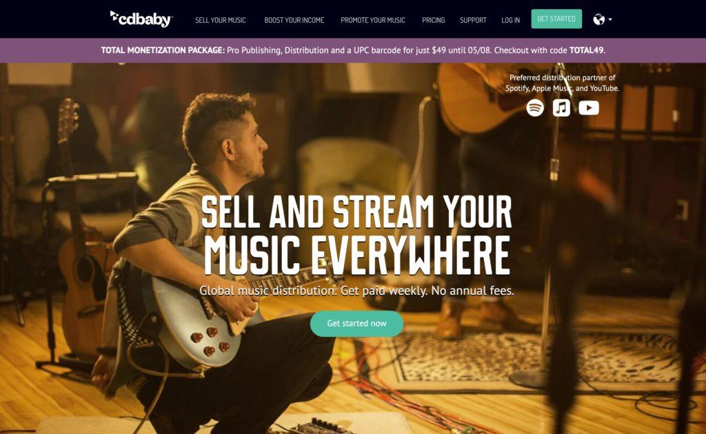 CD Baby отзывы, сервисы цифровой дистрибуции музыки