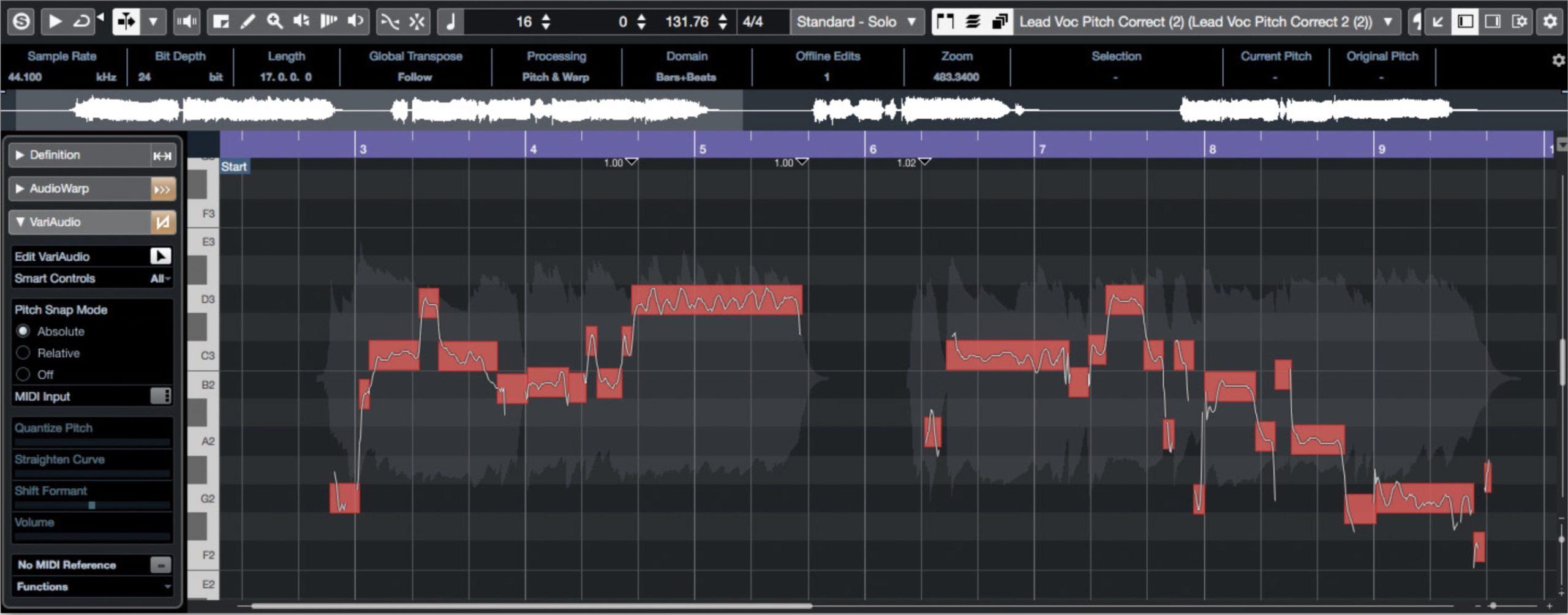 VariAudio 3