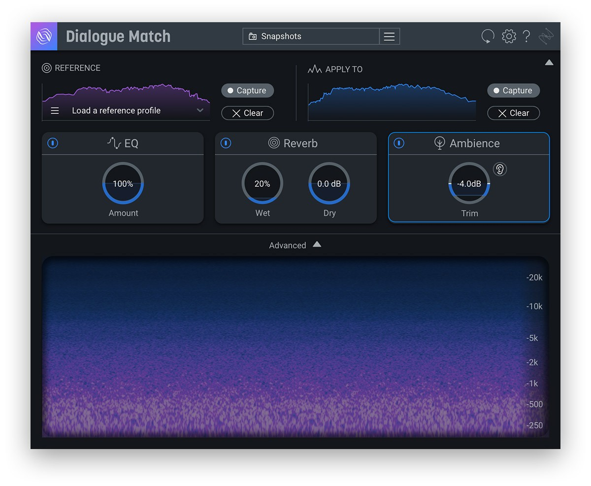 iZotope Dialogue Match Ambience