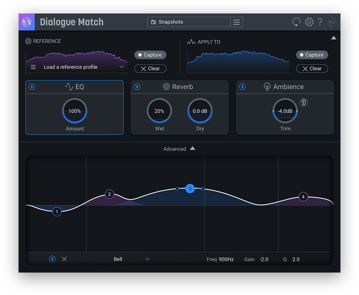 iZotope Dialogue Match EQ