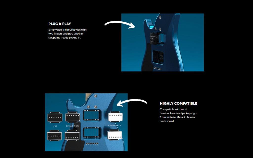 Relish Trinity электрогитара с модульными звукоснимателями