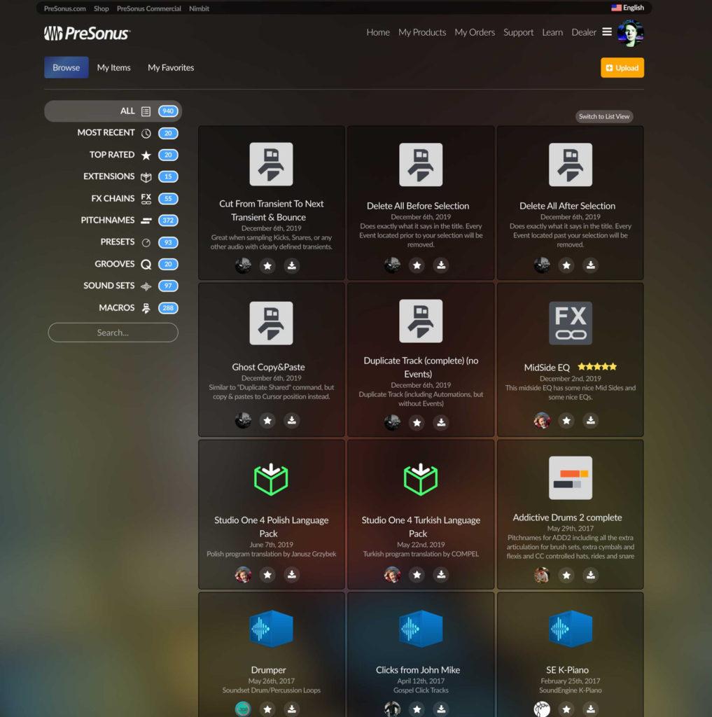 PreSonus Exchange 2.0, Studio One 4.6