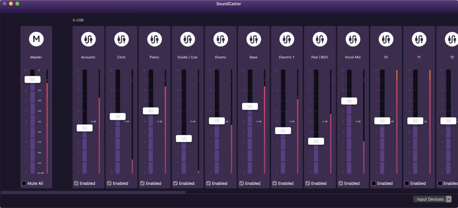 Audiofusion Soundcaster GUI