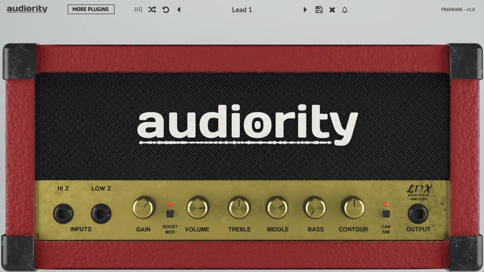 Бесплатный гитарный эмулятор Audiority L12X