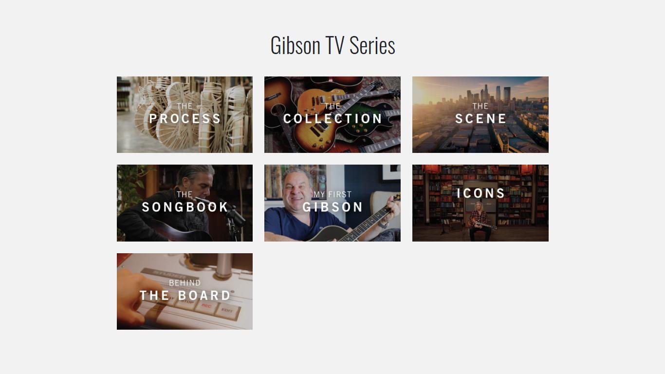 Список шоу Gibson TV