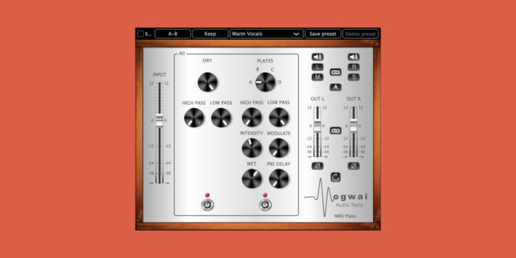 VST-ревербератор Mogwai Audiotools MREV Plates
