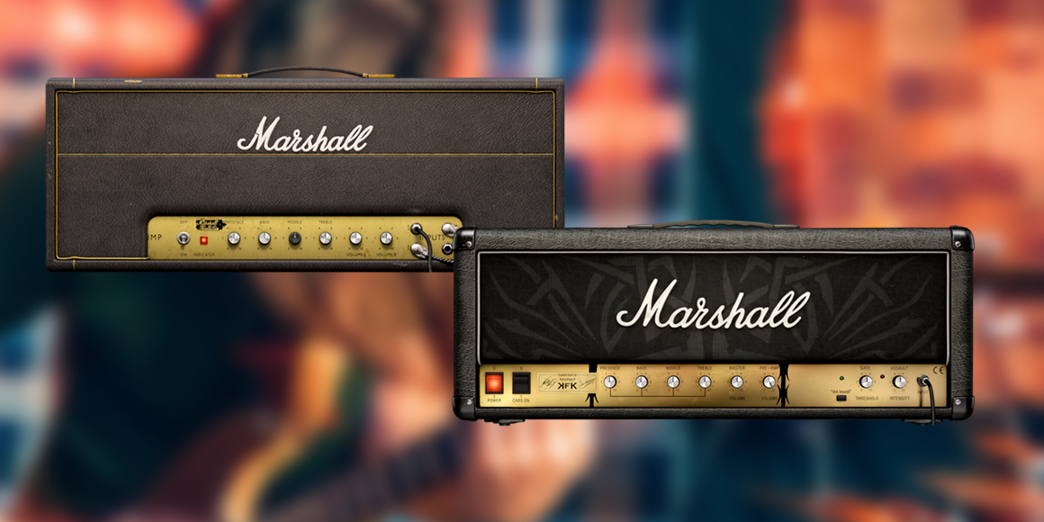 Softube Marshall Plexi Super Lead (сверху) и Softube Marshall Kerry King Signature (снизу)