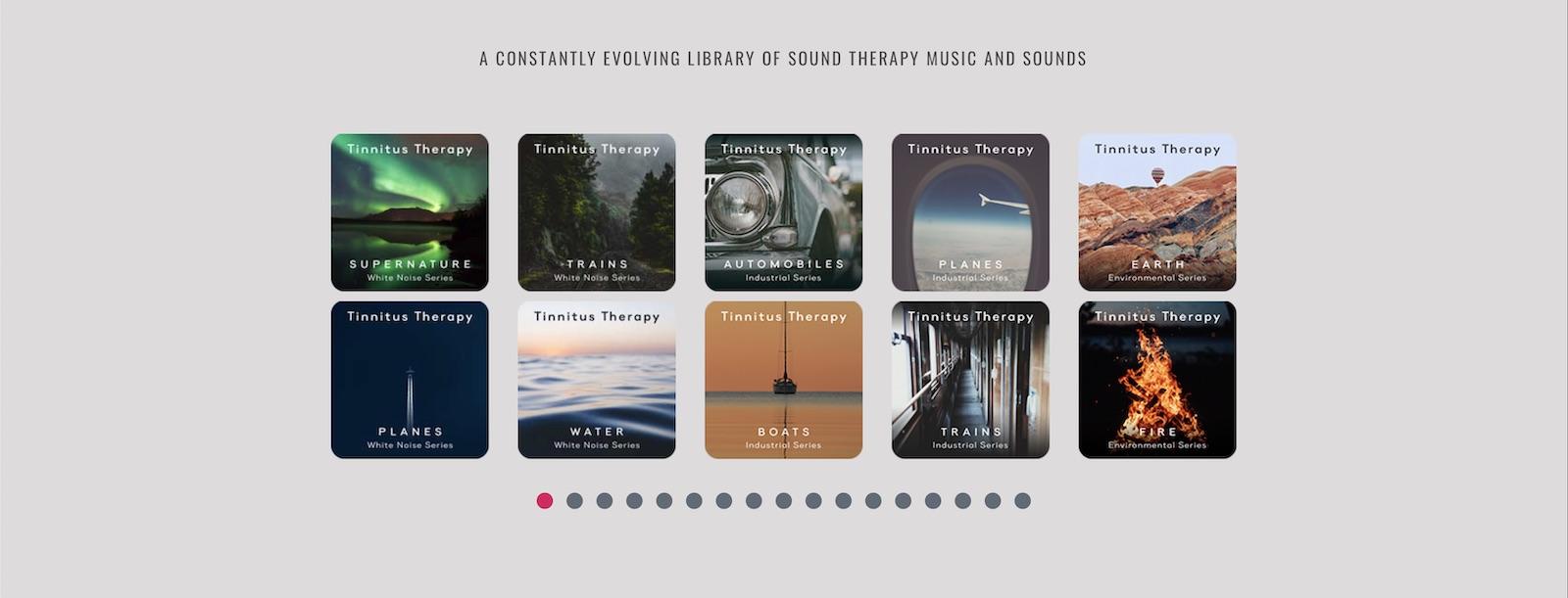 Библиотека доступных звуков в приложении T-Minus