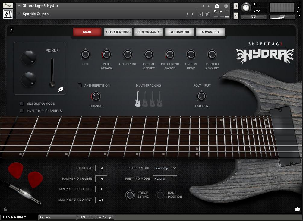 8-струнная VST-электрогитара Impact Soundworks Shreddage 3 Hydra