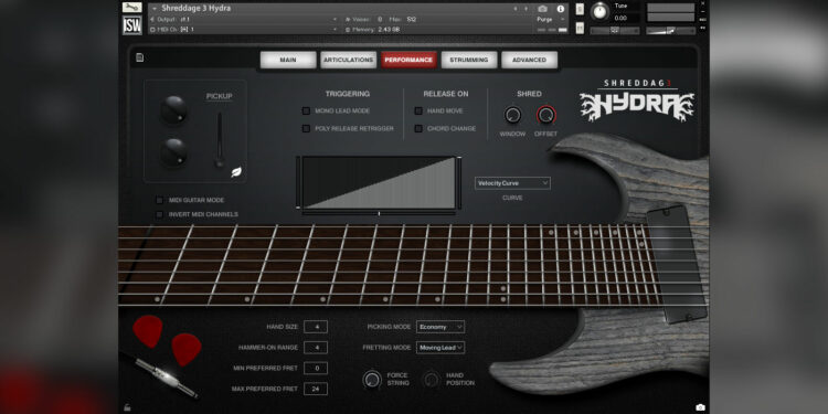 VST-электрогитара Impact Soundworks Shreddage 3 Hydra