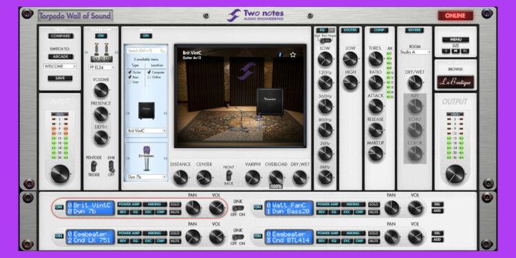 Two Notes Torpedo Wall of Sound бесплатно