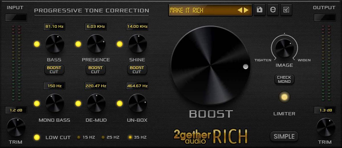 2getheraudio Rich GUI